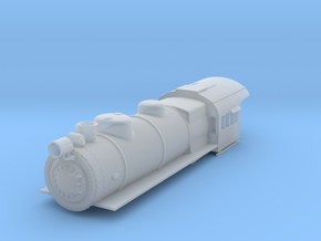 PRR E6 S Scale Boiler and Cab Shell in Smooth Fine Detail Plastic