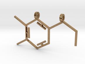 Dopamine Pendant in Natural Brass