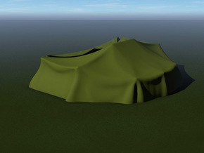 German Tent Hangar (Large) in Green Processed Versatile Plastic: 1:144