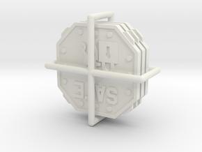 A.S.I.E. Safe tokens (3 pcs) in White Natural Versatile Plastic