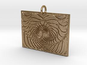 Spade Tree in Polished Gold Steel