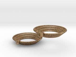 Crochet Earrings (precious/semi-precious metals) in Natural Brass