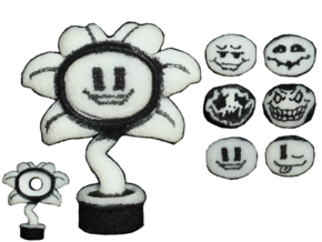 Custom Flowey Inspired Lego in White Strong & Flexible