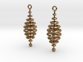 Ring-Stack Earrings in Natural Brass