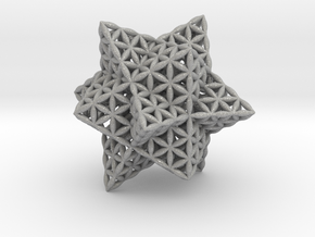 "Stellated Flower of Life Vector Equilibrium 2.3"" in Aluminum"
