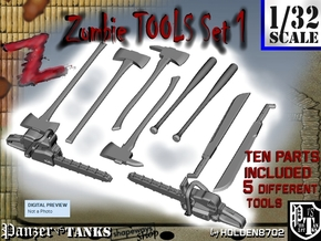 1-32 Zombie Tools Set 1 in Frosted Ultra Detail