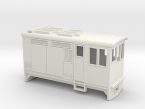 HOn30 Boxcab Locomotive (Kate 2) in White Natural Versatile Plastic