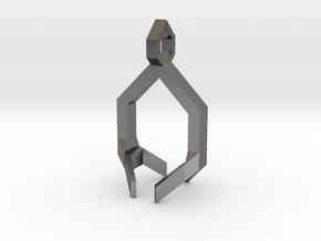 Crystal Pendant Part 2 in Polished Nickel Steel