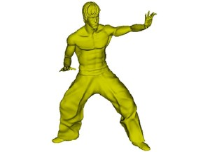 1/15 scale Bruce Lee fighting figure in Smooth Fine Detail Plastic