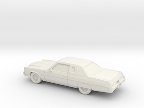1/87 1974-78 Chrysler New Yorker Coupe in White Natural Versatile Plastic