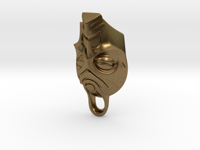 Dragon Priest Mask KeyChain in Natural Bronze