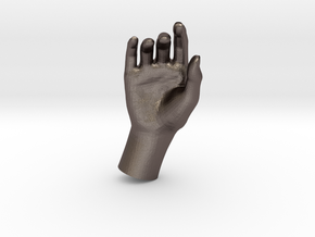 1/10 Hand 023 in Polished Bronzed Silver Steel