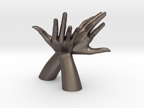 1/10 Hand 031 in Polished Bronzed Silver Steel