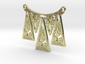 Dagger Points Warrior Necklace in 18k Gold Plated Brass
