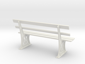 GWR Bench 1 in 12 Scale Dolls House in White Natural Versatile Plastic