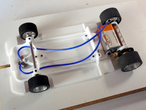 Slot car chassis for C9 1/28 in White Strong & Flexible