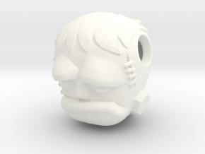 Reversible Frankenstein head pendant in White Processed Versatile Plastic