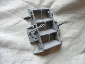 Seaking Step Assembly  in White Processed Versatile Plastic