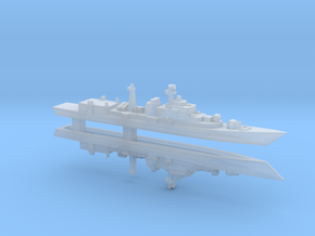 Type 052 Destroyer x 2, 1/6000 in Smooth Fine Detail Plastic