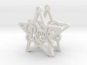 Rockstar Earrings in White Natural Versatile Plastic