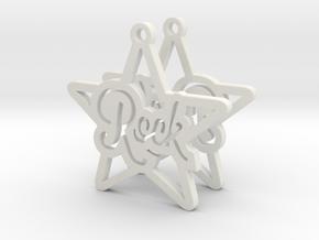 Rockstar Earrings in White Natural Versatile Plastic