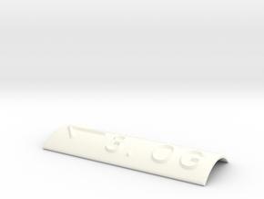 3.OG mit Pfeil nach links in White Processed Versatile Plastic