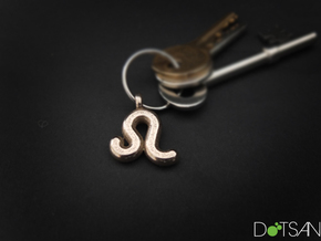 Leo Symbol Keychain in Stainless Steel