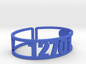 Kennybrook Zip Cuff in Blue Processed Versatile Plastic