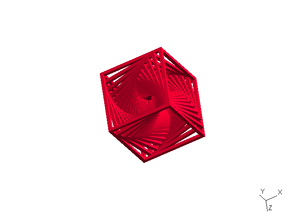 Twisted Frame Thingy - small in Red Strong & Flexible Polished