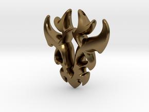 Antler Pendant in Polished Bronze