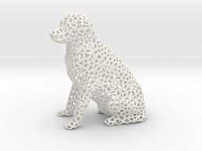 Voronoi Labrador Retriever Dog (Big) in White Natural Versatile Plastic