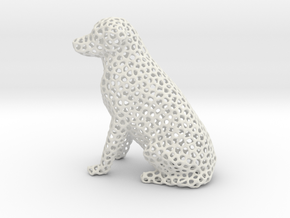 Voronoi Labrador Retriever Dog (Medium) in White Natural Versatile Plastic