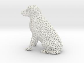 Voronoi Labrador Retriever Dog (Medium) in White Natural Versatile Plastic