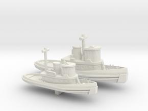 1/600 Scale Vietnam Era US Army LT & ST Tugs in White Natural Versatile Plastic