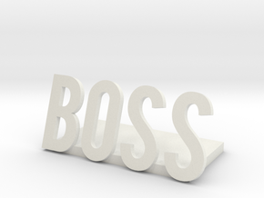 boss logo1 desk bussiness in White Natural Versatile Plastic
