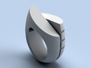 The Eiger - size 12 (21.49 mm) in Polished Silver