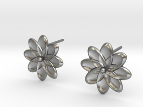 Flora Earrings in Natural Silver