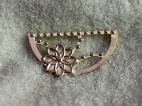 Flora Crescent Pendant in Natural Brass
