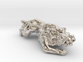 Pixiu 貔貅 in Rhodium Plated Brass