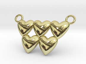 Olympic Hearts - Rio 2016 in 18k Gold Plated Brass