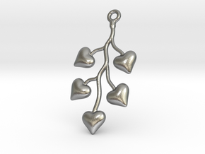 Cluster Of Hearts in Natural Silver