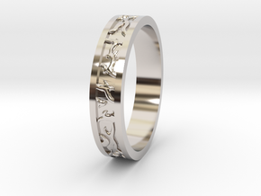 Ring of the Sun Princess in Rhodium Plated Brass: 6.5 / 52.75