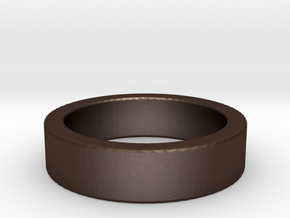 Basic Ring US6 in Matte Bronze Steel