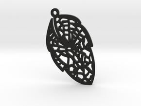 Leaf earring- Bring the nature close to you. in Black Natural Versatile Plastic