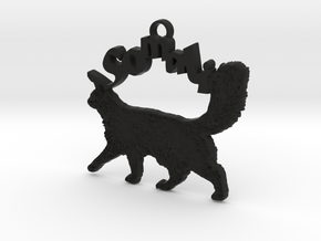 Somali Cat Breed Pendant in Black Natural Versatile Plastic