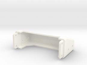Tamiya Semi Truck Tapered Frame End - Type D in White Strong & Flexible Polished