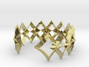 bracelet 01 open silver in 18k Gold Plated Brass