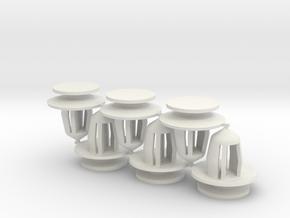 Honda Pilot Scuff Plate Retainer Q=6 in White Natural Versatile Plastic