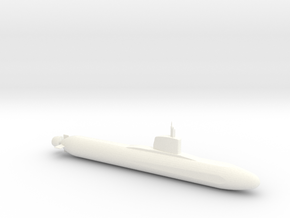 Barracuda Class Submarine Model (1/600) in White Processed Versatile Plastic