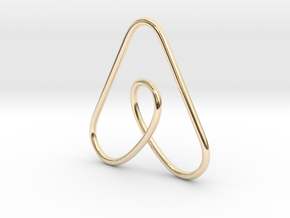 Airbnb Keychain in 14K Yellow Gold